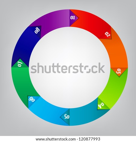 Concept of colorful circular banners afor different business design. Raster version. - stock photo