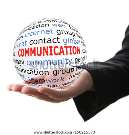 Concept of communication - stock photo