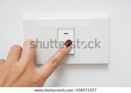 Concept of energy saving by turn the light off - stock photo