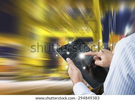Concept of fast or instant shipping, Online goods orders worldwide - stock photo