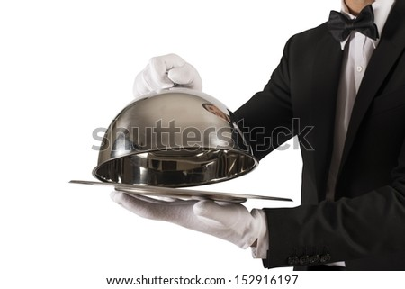 Concept of First Class Service on white background - stock photo