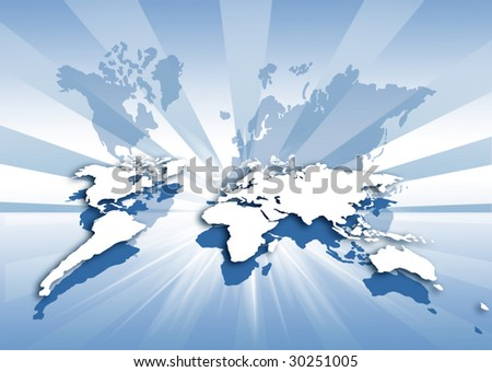 concept of global logistic - stock photo