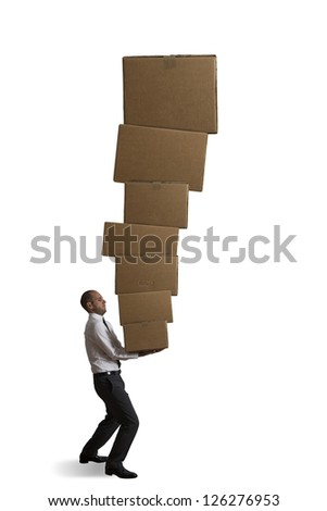 Concept of hard career in the business - stock photo