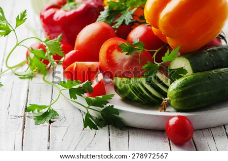 Concept of healthy and vegan eating , selective focus - stock photo