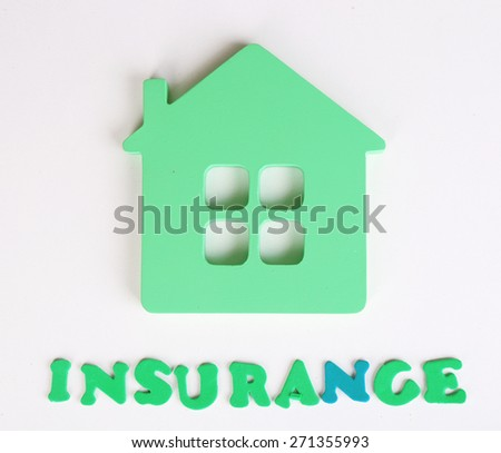 Concept of home insurance isolated on white - stock photo