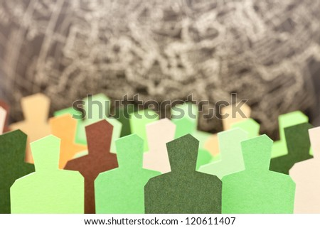 Concept of increasing ecologist conscience in the global society - stock photo