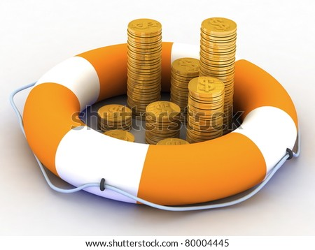 concept of insurance of monetary contributions - stock photo
