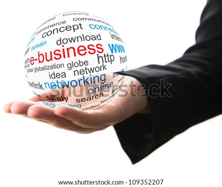 Concept of internet business - stock photo
