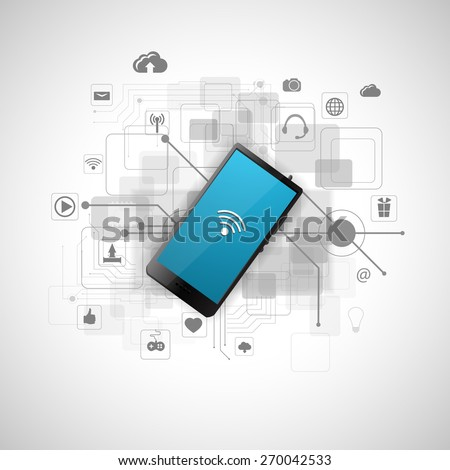 concept of Internet technology - stock photo