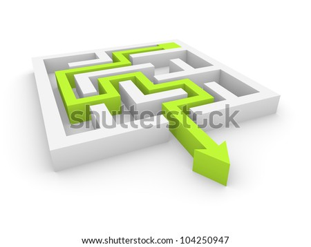 Concept of labyrinth - stock photo