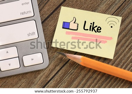 concept of like, internet sharing - stock photo