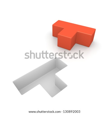 Concept of logic game. Computer generated image. - stock photo