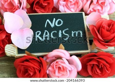 concept of no racism - stock photo