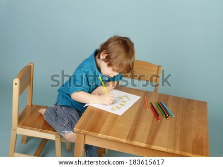 Concept of preschool, kids education and sharing - stock photo