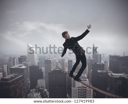 Concept of problem in business - stock photo