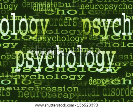 concept of psychology - stock photo