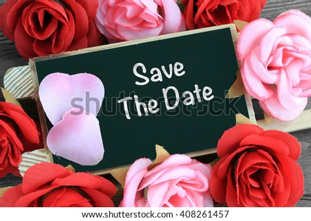 concept of save the date - stock photo