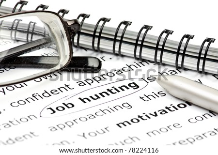 concept of searching a job - stock photo