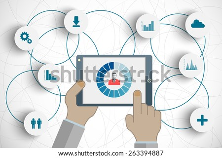 concept of searching for professional stuff or technical solutions, human resources management or analysing personnel resume for your design - stock photo