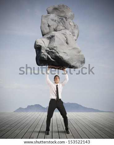 Concept of success and determination in hard business - stock photo
