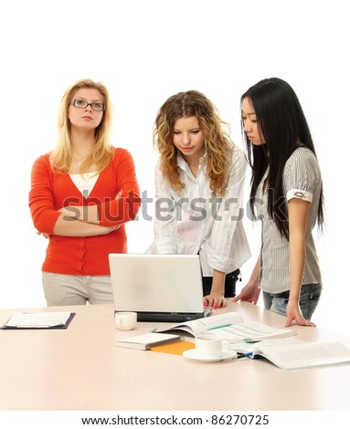 Concept of successful teamwork - stock photo