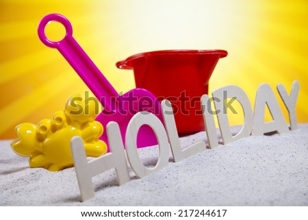 Concept of summer vacation  - stock photo