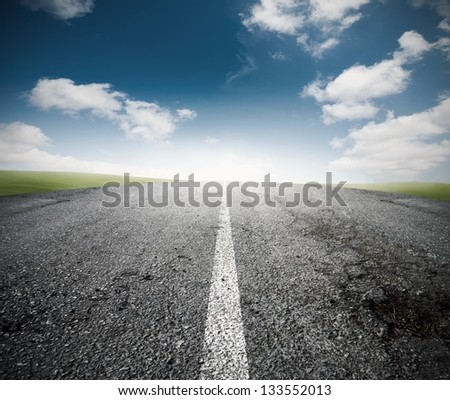 Concept of the road for the success - stock photo