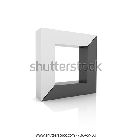Concept of unity with frames (black collection) - stock photo