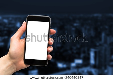 concept of using a telephone in business - stock photo
