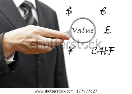 Concept of value currencies - stock photo