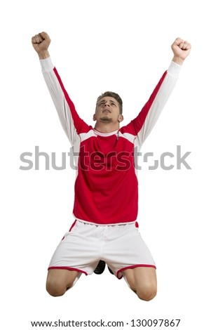 Concept of victory in a football match - stock photo