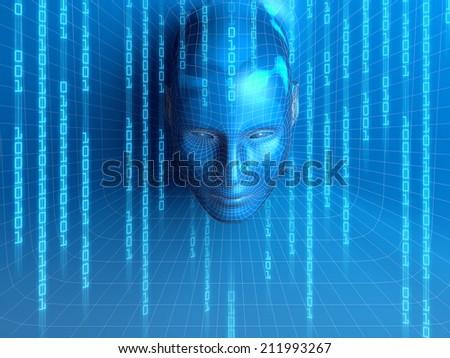 concept of virtual person - stock photo