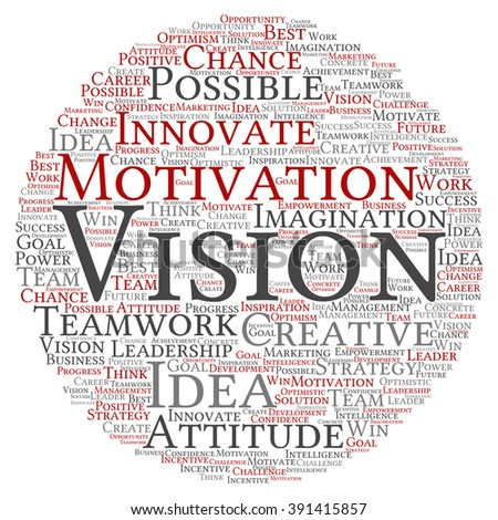 Concept or conceptual abstract creative business word cloud on white background, metaphor to teamwork, innovation, possible, creativity, leadership, management, successful, corporate, strategy - stock photo