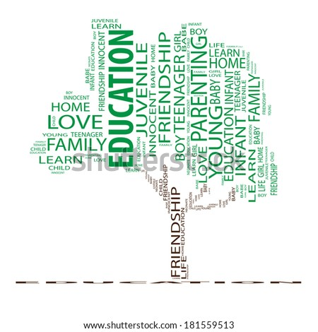 Concept or conceptual green text word cloud as tree isolated on black background, metaphor to nature, ecology, green, energy, natural, life, world or global, protect, environmental or recycling - stock photo