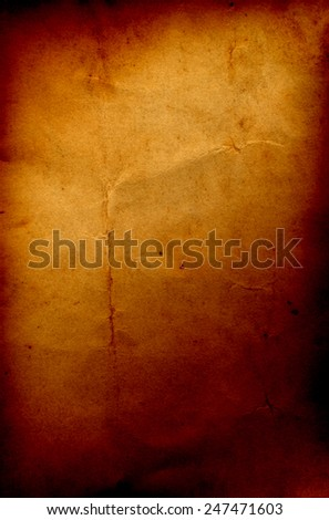 Concept or conceptual old vintage brown burned paper background, metaphor to antique, grunge, texture, retro, aged, grungy, ancient, dirty, torn, damaged, stained, frame, manuscript, material designs - stock photo