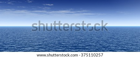 Concept or conceptual sea or ocean water waves and sky cloudscape exotic or paradise background banner - stock photo