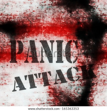 concept panic attack grungy wall background - stock photo
