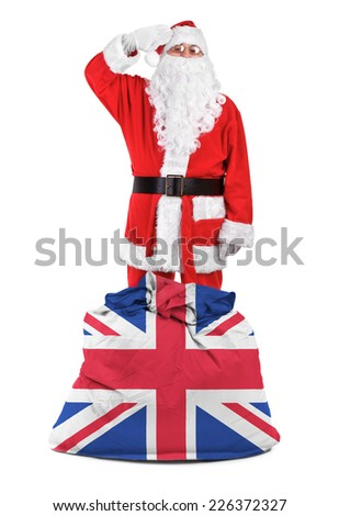 concept photo - gifts for Great Britain - stock photo