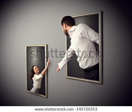 concept photo of happy couple - stock photo