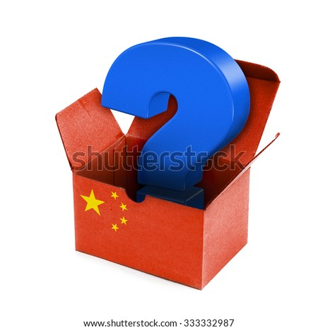 concept photo - package from China