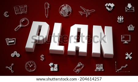 concept plan. Business idea - stock photo