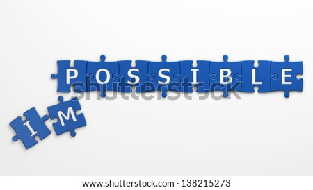 concept possible - stock photo