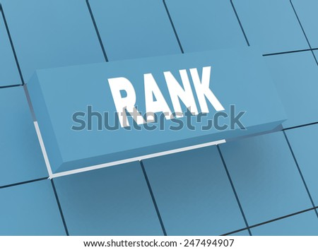 Concept RANK - stock photo