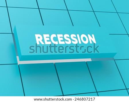 Concept RECESSION - stock photo