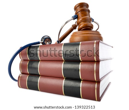 Concept related to medical lawsuit in the legal system - stock photo