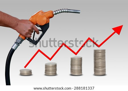 Concept Rising Price of Gas  - stock photo