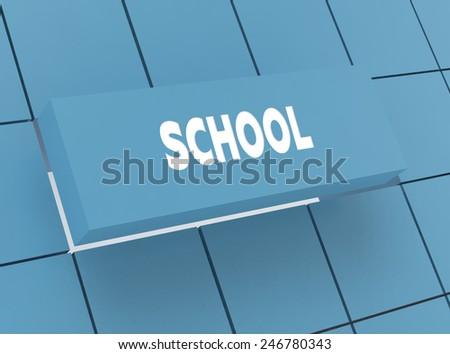 Concept SCHOOL - stock photo