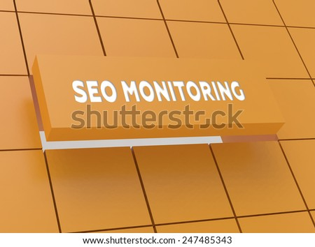 Concept SEO MONITORING - stock photo