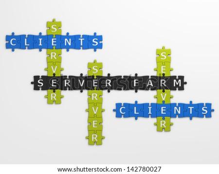 concept server farm - stock photo