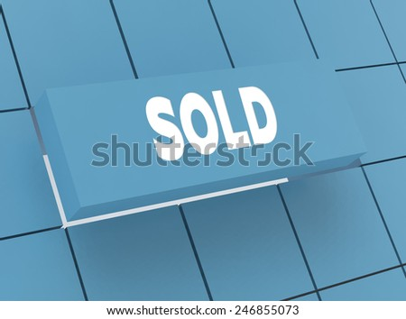 Concept SOLD - stock photo